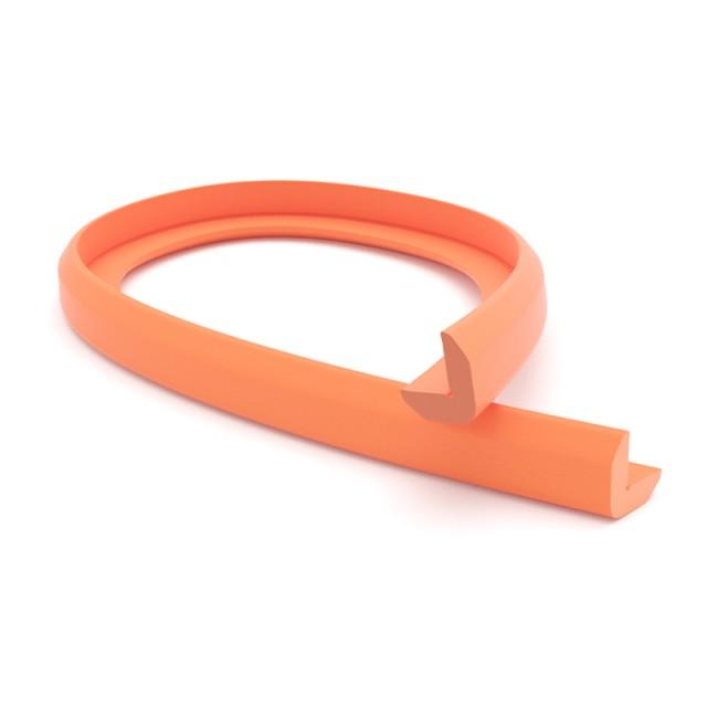 PROTECTIVE CORNER PROFILE PVC 25x25, 1m / ORANGE
